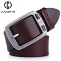 De piel de vaca de cuero genuino cinturones para hombres vaquero de Correa, de marca, para hombre vintage vaqueros de lujo de cinturón de los hombres de alta calidad