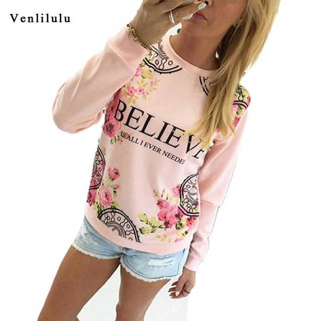 c95f82fa4d1a7 Women Plus Size Sweatshirt Long Sleeve Hoodies Floral Print Female Ladies  Tops 3XL Pullover Women Hooded