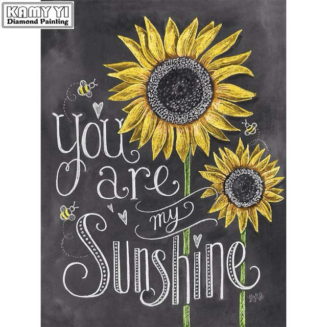 Full Square Drill 5d Diy Diamond Painting You Are My Sunshine