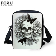 FORUDESIGNS Cool Punk Skull Prints School Bags For Baby Boys Girls Casual Children Small Book Shoulder Kindergarten Mochila