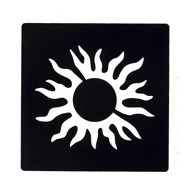 Online Shop 1 PC Tattoo Stencil Body Wrist Art Airbrush Painting Sun - small sun template