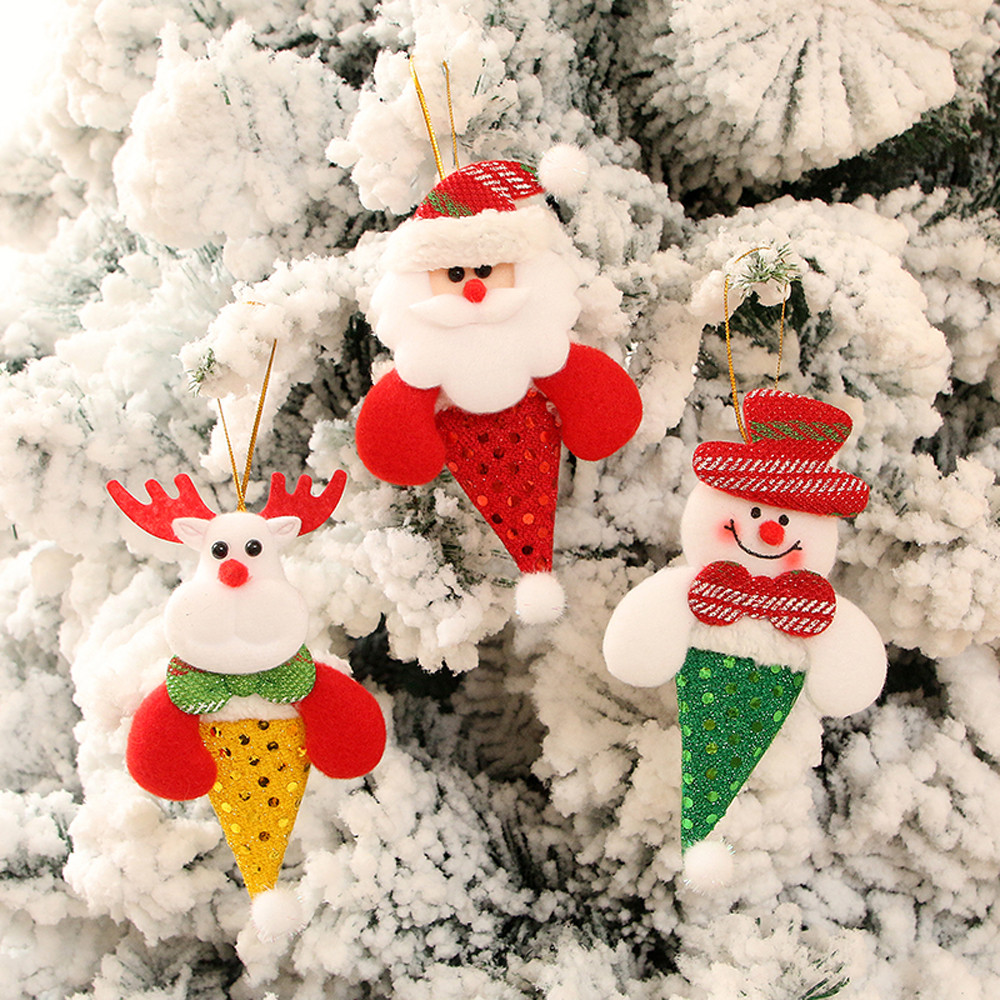 Christmas Ornaments Gift Santa Claus Snowman Reindeer Toy Doll Hang Decorations Decor Supplies Novelty Gifts For Children#30