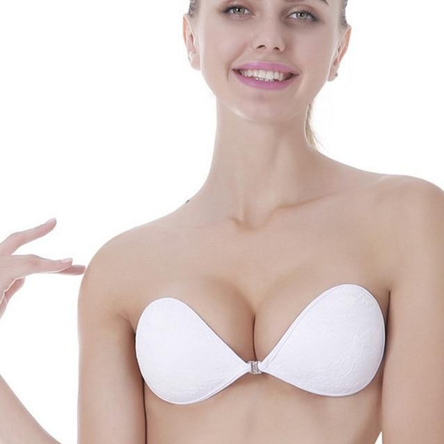 3481a02db3544 Hot sale lace invisible silicone women bra wedding chest necessary post  push up bra underwear women seamless sexy Strapless bras