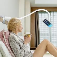 Soporte de tablet para Ipad en la cama soporte de Tablet Flexible de brazo largo soporte de escritorio borde de la cama soporte perezoso, rotación de 360 grados