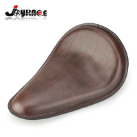 Motorcycle Brown Front Solo Seat for Harley Davidson Customs Bobber Chopper Seat Synthetic Leather Accessories