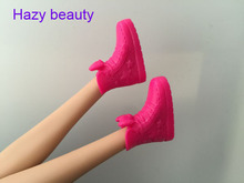 Hazy beauty different styles for choose Casual flat High heels doll shoes boots for Barbie Doll