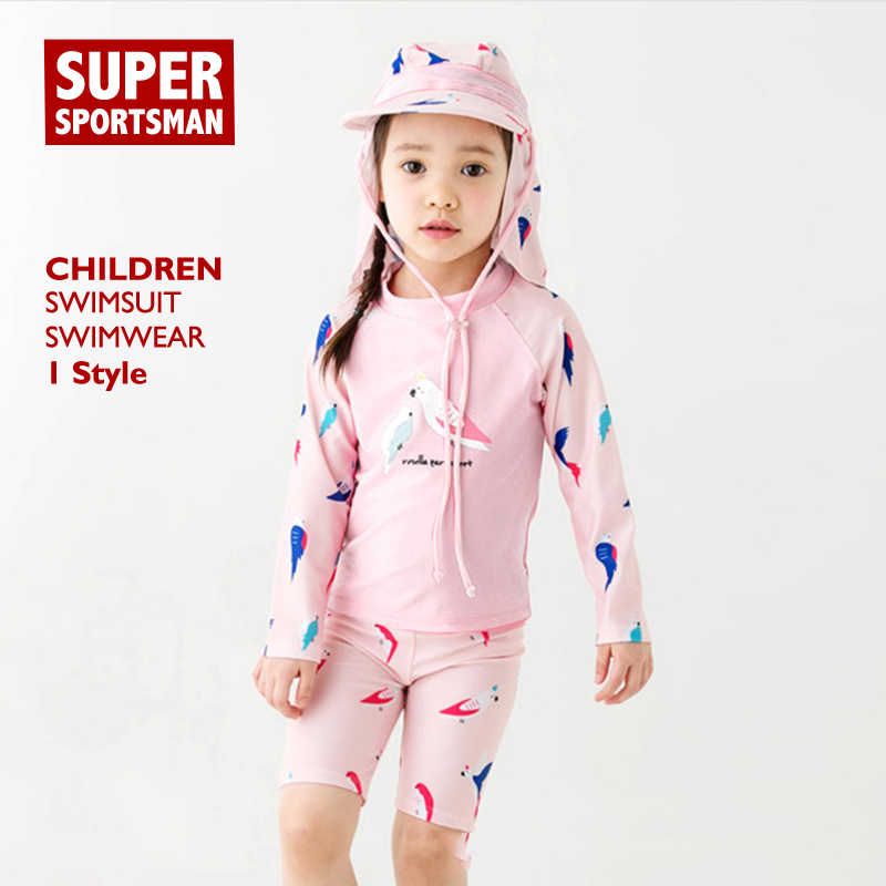 Baby Girls Beach Wear Swimsuit Children Cartoon Birds UPF50+ Swimming  Surfing Suits Kids Water Sports Swimwear Cute Swim Clothes    - AliExpress