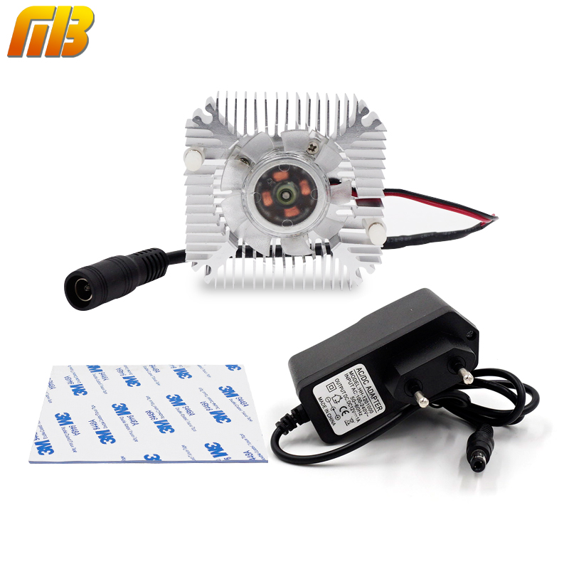 [MingBen] 1set High quality 55x55x12mm radiator with fan Aluminum heatsink Extruded profile heat sink for heat dissipation