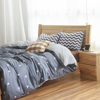 Gray Diamond Beding Set Gray Striped Duvet Covers Boys Bed Linen Twin Full Queen
