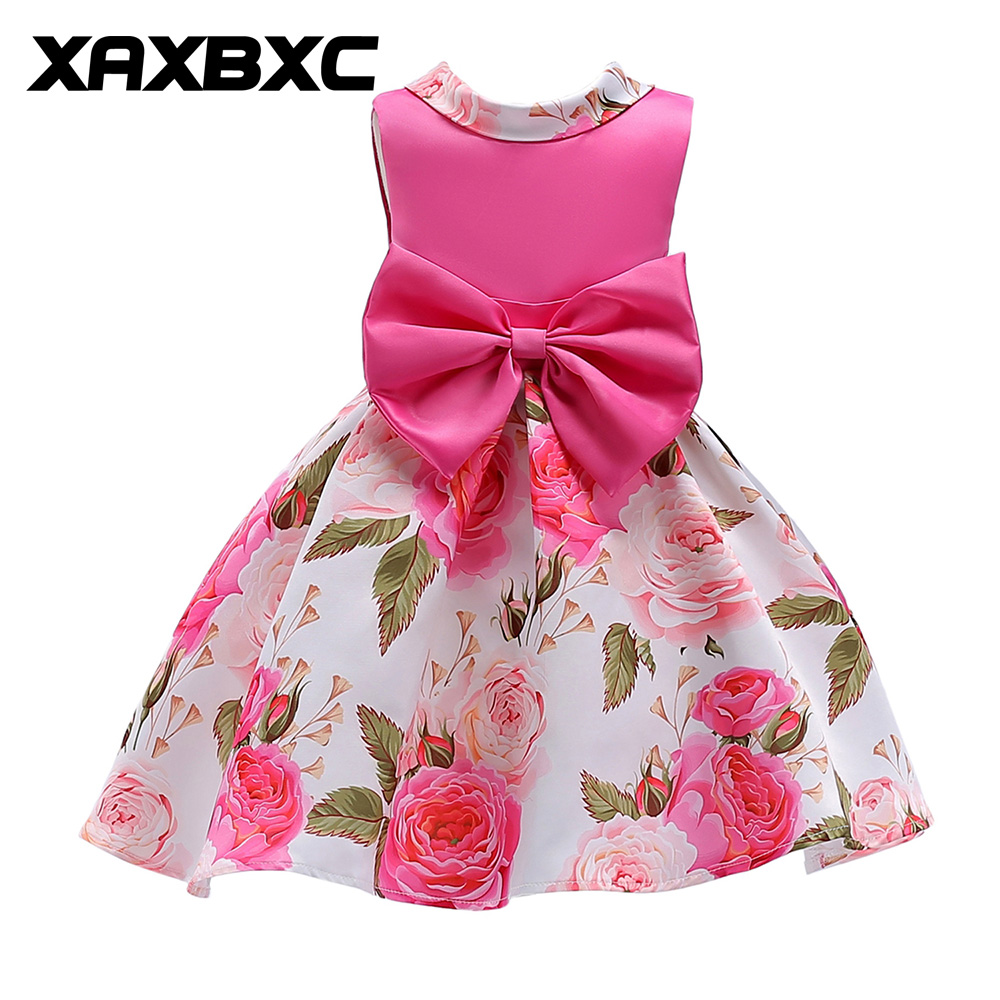 ZT2019 Bow-knot Lace Princess Dresses Kids Prom Gown Evening Dresss Wedding Party Dress Girls Clothes Tulle Children's Costume teenage girl party dress children 2016 summer flower lace princess dress junior girls celebration prom gown dresses kids clothes