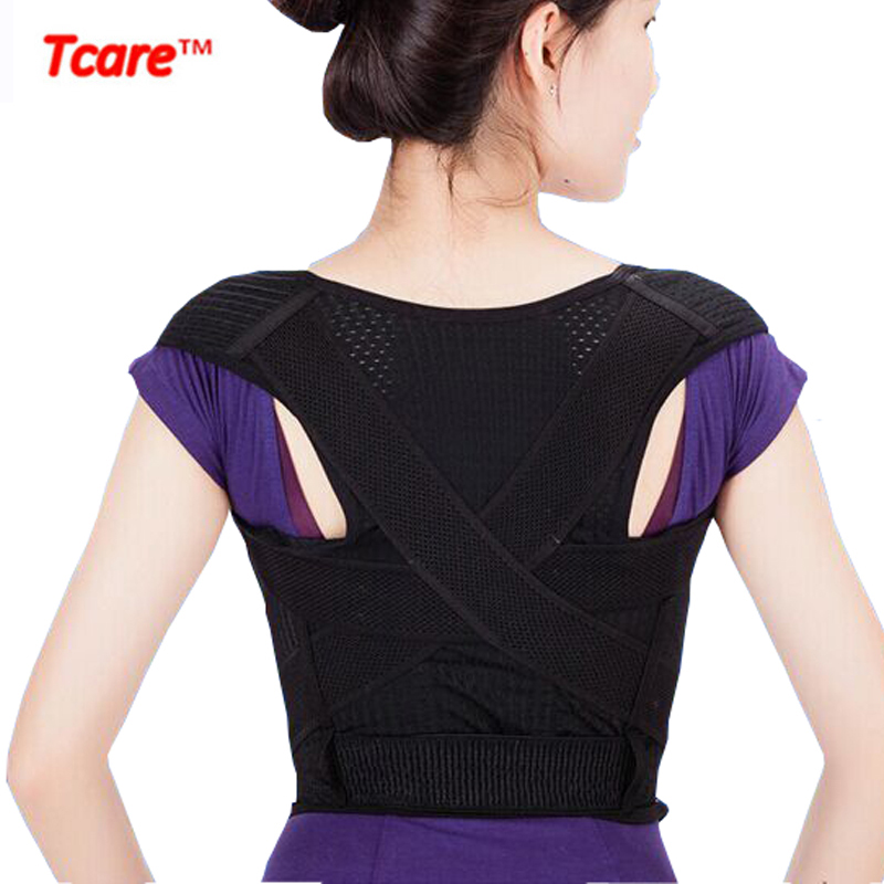 Tcare New Hot Breathable Shoulder Back Posture Corrector Back Brace Health Care Posture Support Belt Unisex for women man