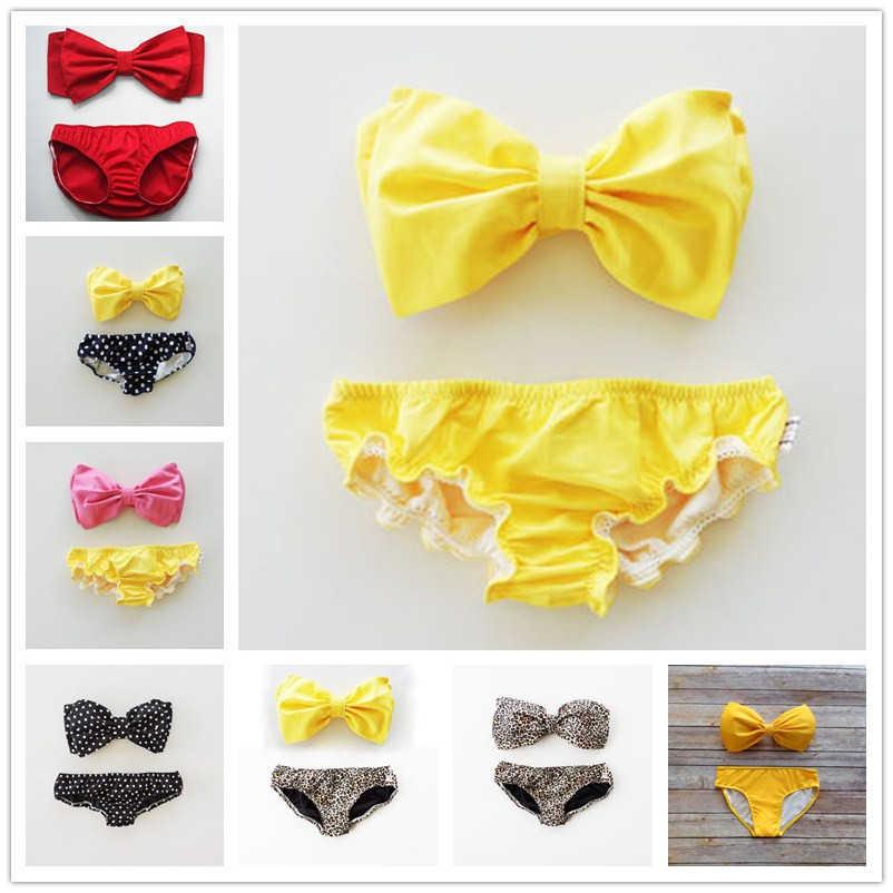 2017 Fashion Push Up Bikini Women Swimsuits Sexy Bathing Suit Swimwear Bowtie Bandeau Bikini Set 9