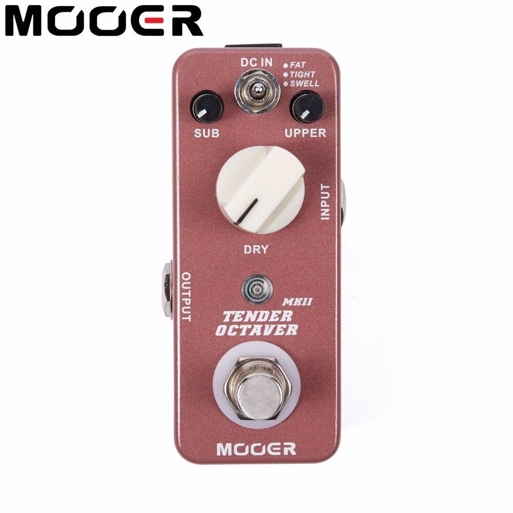 Mooer Tender Octaver MKII Precise Octave Guitar Effect Pedal True Bypass 3 Tones Switch SUB UPPER DRY Controls mooer ensemble queen bass chorus pedal true bypass guitar effect pedal