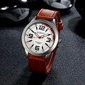 ALEGRIA NOVA Fabulous Retro Relógio de aço Inoxidável dos homens de Luxo de Quartzo Analógico Couro Relógios Orologio Drop Shipping #0223