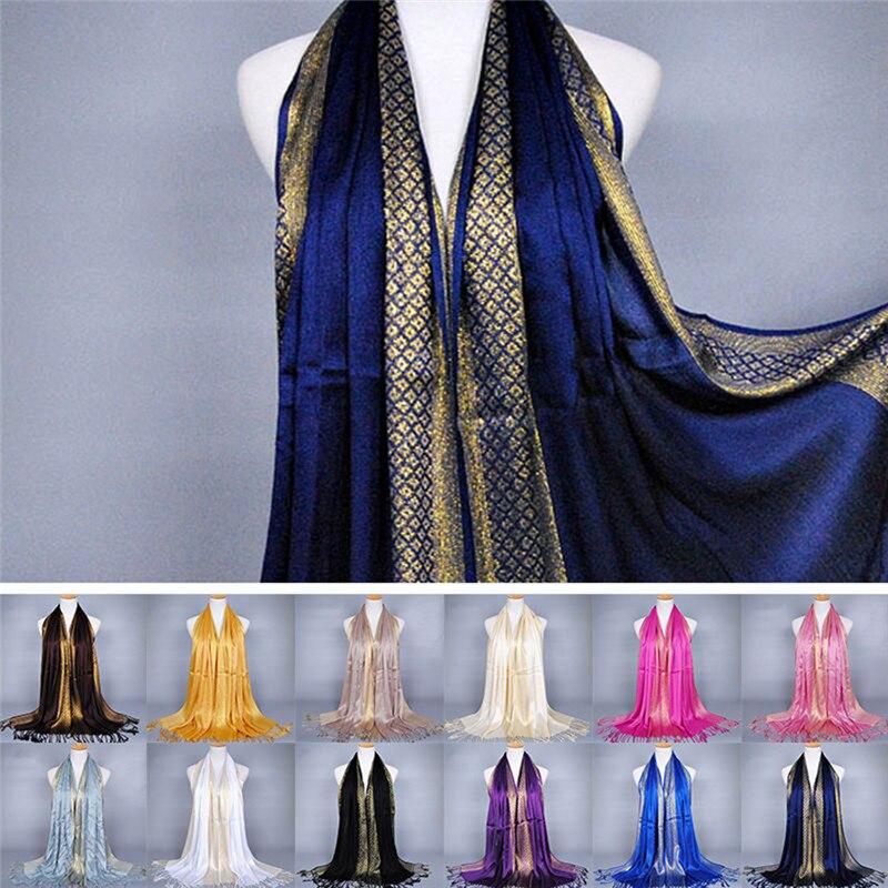 1PC Spring 180*60cm Tassel   Scarf   Shawl Bamboo Cotton Hijab Flower Printed   Wraps   Long Lady Pashmina Stoles