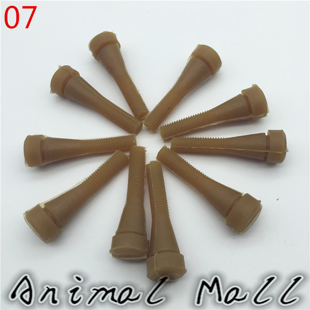 30 pcs Bird quail dove shed stick Rubber rod Brown Slot 1.2cm Birds hair removal machineTop diameter 1.8cm Bottom diameter 0.7cm