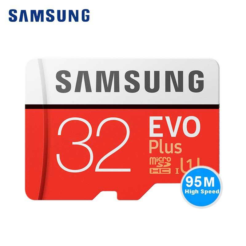 SAMSUNG Micro SD Speicherkarte 32 gb C10 EVO Plus 32 GB Class10 TF Karte micro SD SDHC UHS-I-SPEICHERKARTE 4 Karat HD Für dji UAV & Sony HUAWEI Handys