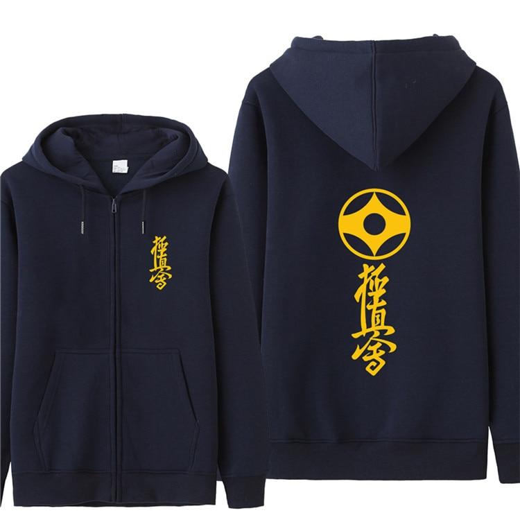 d809a8e771 US $23.19 42% OFF Omnitee Kyokushin Karate Hoodies Kyokushin Logo Printed  Sweatshirt Autumn Men Fleece Zipper Jacket Pullover Mens Coat-in Hoodies &  ...