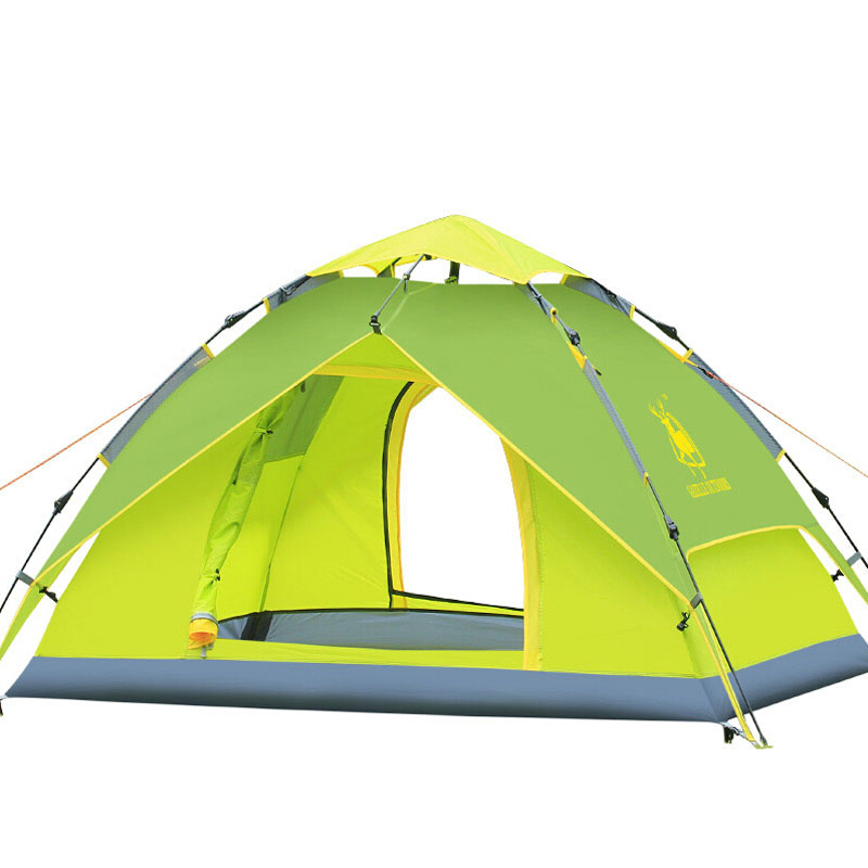 Outdoor Camping Automatic Tent Waterproof nylon Portable double layer 3-4 Person Beach Fishing Tent quick open 3.2kg outdoor camping hiking automatic camping tent 4person double layer family tent sun shelter gazebo beach tent awning tourist tent
