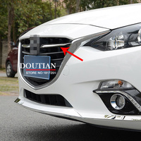Bright Style For Mazda 3 AXELA 2014 2015 2016 Chrome Front Grille Grill Streamer Cover Trim 2 Pcs