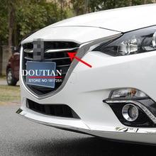 Jasny styl dla Mazda 3 AXELA 2014 2015 2016 Chrome przedni Grill Grill Streamer pokrywa wykończenia 2 sztuk