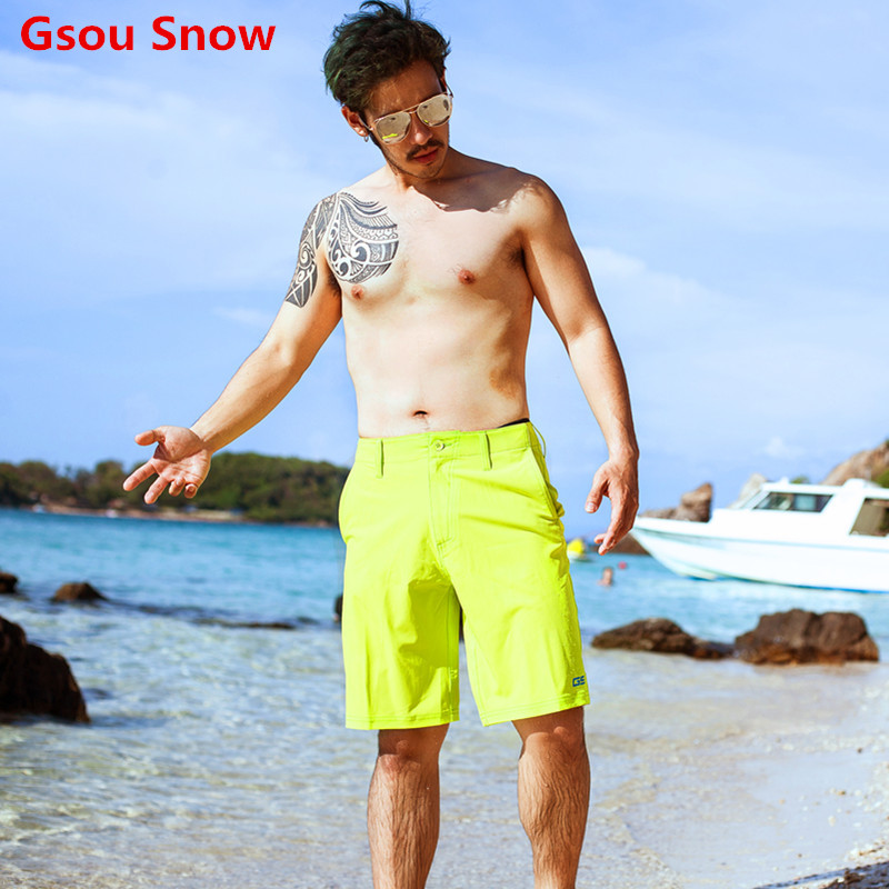 Hot Cool GS Brand Swimwear Beach Board Shorts Men Summer Swim Shorts Rash Guard Boardshorts Herren Short de bain homme  gsou snow brand 2017 men beach shorts quick dry summer board shorts swimming surfing diving motorboat shorts maillot de bain