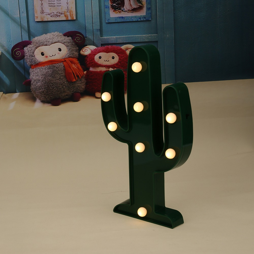 3D Catus Night Light LED Lamp Chirstmas Light Home Decoration Indoor Table Luminaire Christmas Fairy Pary Decor
