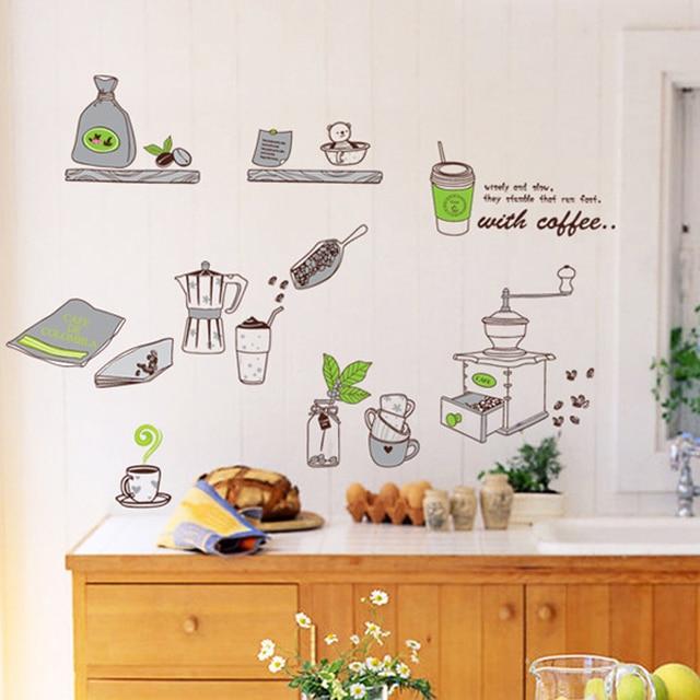 1 unids accesorios de cocina Wall Sticker calcomanías de vinilo ...