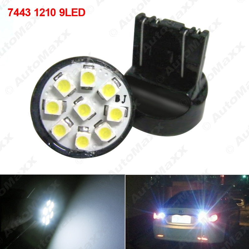 2Pcs White 12V T20 7443 9SMD 1210 Chip Car Tail Turn Signal Brake LED Lights Bulb Lamp # ...