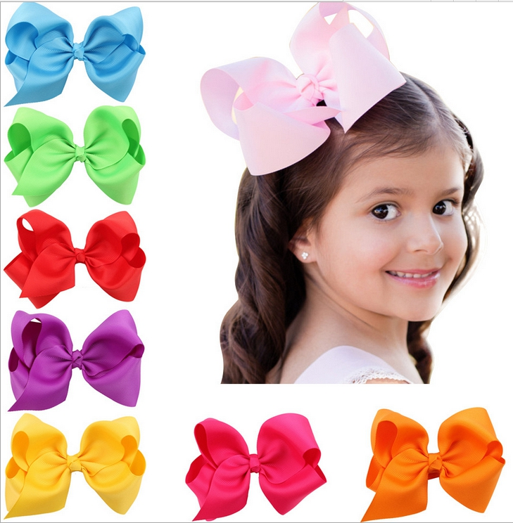 2017 Children accessories 12cm big bow girls hair barrette 5inch baby cute hair accessories children hair clips hairpin headwear magic elacstic hair bands big rose decor elastic hairbands hair clips headwear barrette bowknot for women girls accessories
