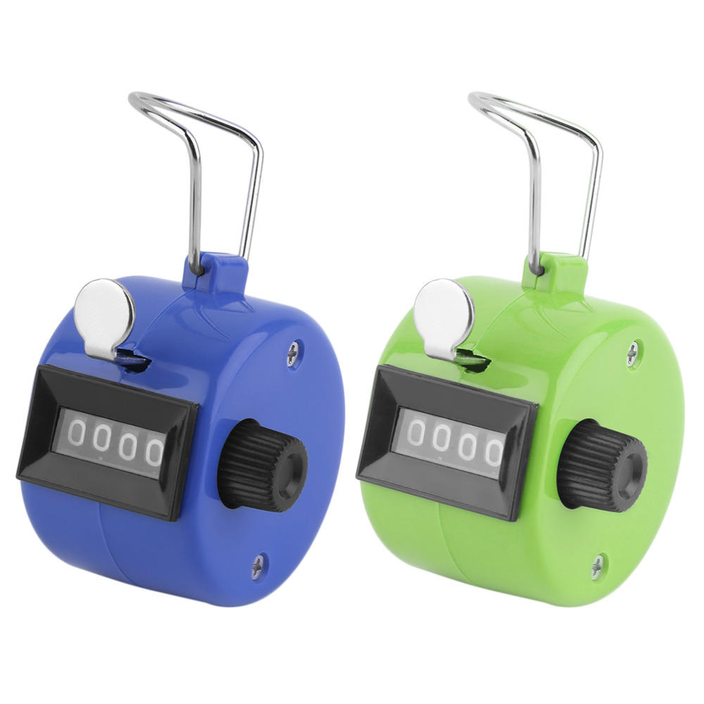 1Pc 4 Digit Number 4.4cmx3.1cm Plastic Golf Handheld Manual Tally Counter Clicker Zero Clearing Quick Reaction Golfing Counters