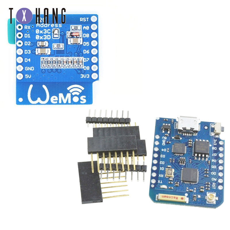 For WEMOS D1 Mini Pro 16M Bytes <font><b>External</b></font> <font><b>Antenna</b></font> Connector NodeMCU <font><b>ESP8266</b></font> ESP-8266EX CP2104 Development Board Micro USB image