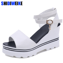 Summer Korean muffin fish head women sandals with platform s