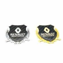 FOR Renault Car window carbon fiber Emblem Badge Decal rear trunk Sticker for Megane Latitude Vel Satis captur FRENDZY fs 7701039565 7702127213 for renault megane