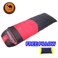 Sam Camel Winter outdoor equipment CM107 sleeping bag sleeping bag white 1200g/1500g/1800g duck down filler and free pillow