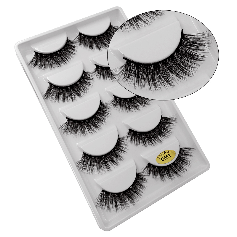 5 Pairs 3D mink lashes 100% Cruelty free Lashes mink eyelashes false eyelashes natural eye lashes extensions handmade maquiagem