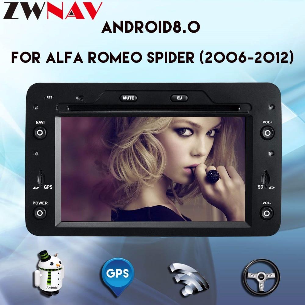 Octa core Android 8.0 Car DVD PLAYER For Alfa Romeo Spider Alfa Romeo 159 Brera 159 Sportwagon GPS navigation radio autostereo