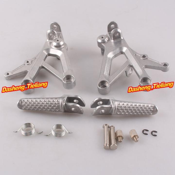Aluminum Alloy Passenger Rear Foot Pegs Footrest Brackets for Honda CBR600 F4 99 00 F4i 01