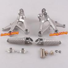 Aleación de aluminio Trasero de Pasajeros Estriberas Reposapiés Soportes para Honda CBR600 F4 99-00 F4i 01-06, motocicleta piezas de Repuesto Accesorios