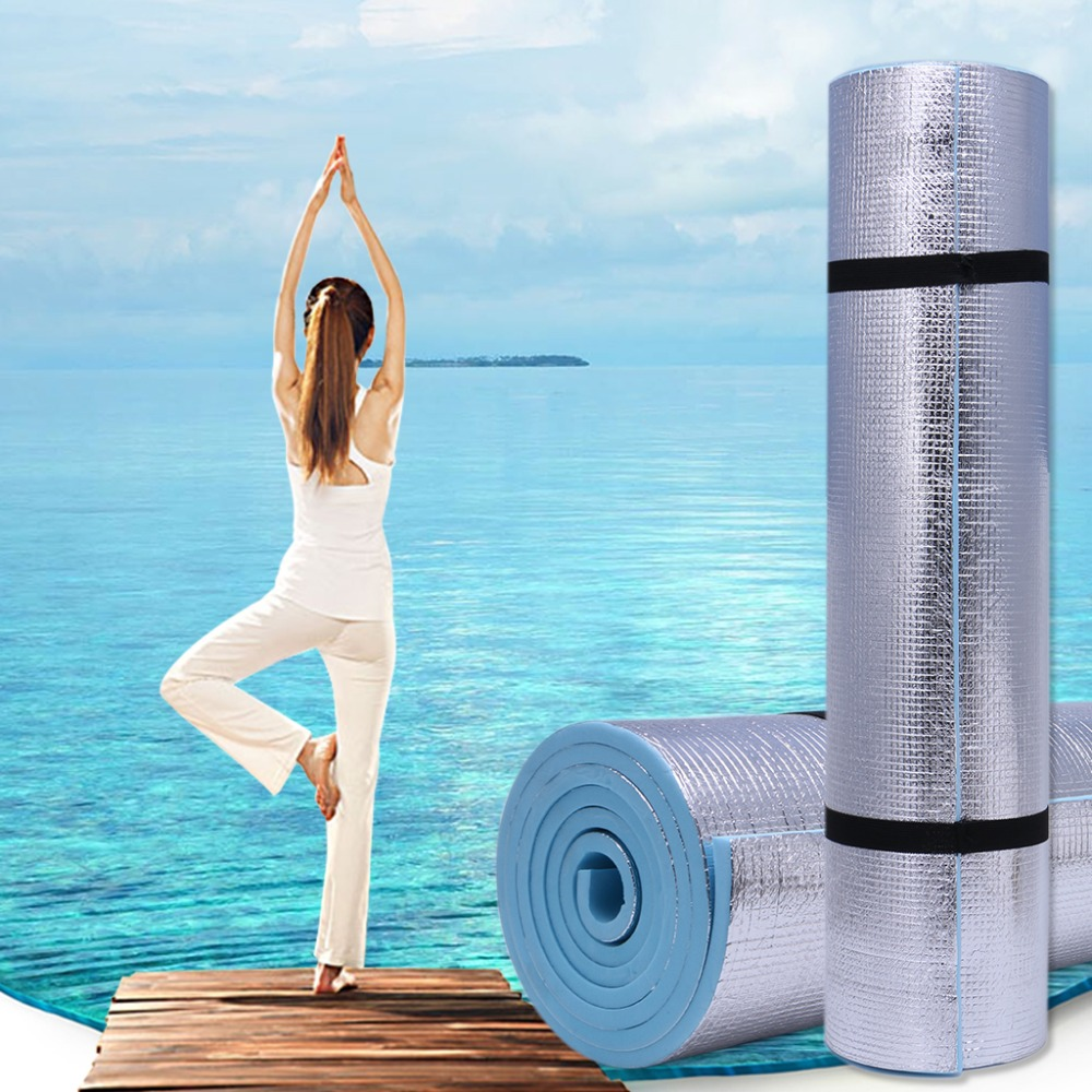 6mm Thick Durable EVA Yoga Mat Exercise Gym Fitness Workout Non-Slip Pad Camping Body Building