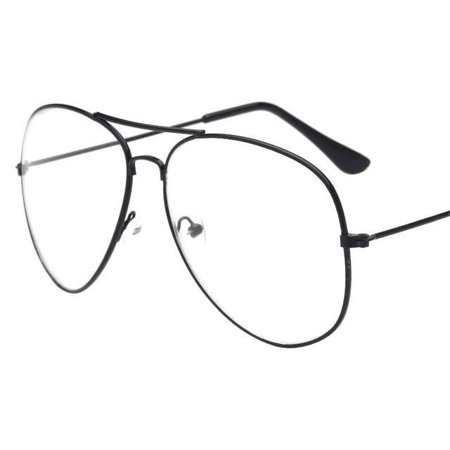 f7d2b1f565 CANCHANGE Classic Optics Clear Glasses Women Pilot Glasses Men Transparent  Eyeglasses Metal Frame Eyeglasses Unisex Eyewears