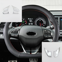 ABS Matte For Hyundai Kona Encino 2018 2019 Car Steering wheel Button frame Cover trim Car Styling accessories 2PCS lapetus car steering wheel frame cover trim 2 pcs fit for hyundai kona 2018 2019 carbon fiber look