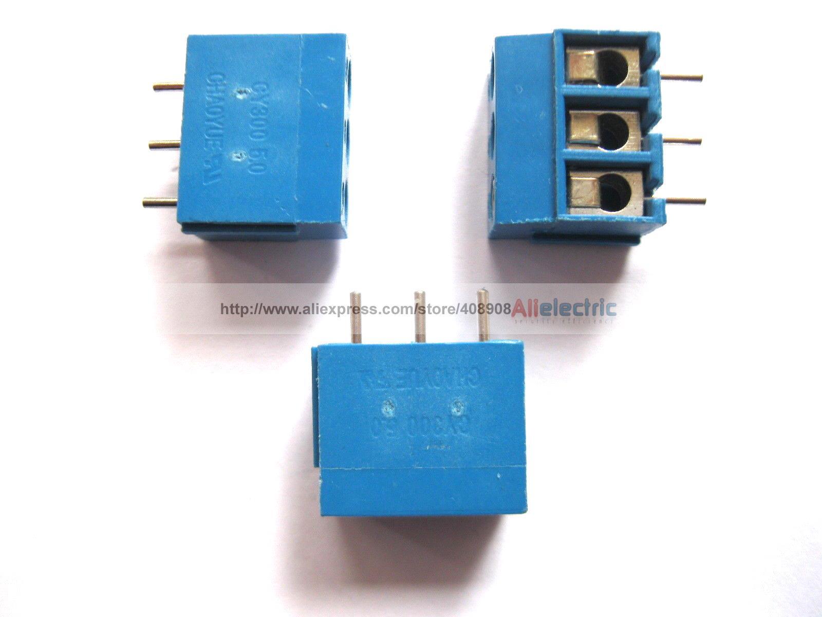 600 Pcs 3pin 5.08mm Screw Terminal Block Connector Blue CY300 3 pin curved screw terminal block connectors green 20 piece pack