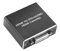 HDMI To DVI With Audio Converter Digital SPDIF Toslink And Analog Stereo Adapter HDCP Remover Decoder