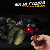 Novelty Remote Control Snake Naja Cobra Animal Trick Terrifying Mischief Toy RC Snaker Safari Garden Props Joke Prank Gift
