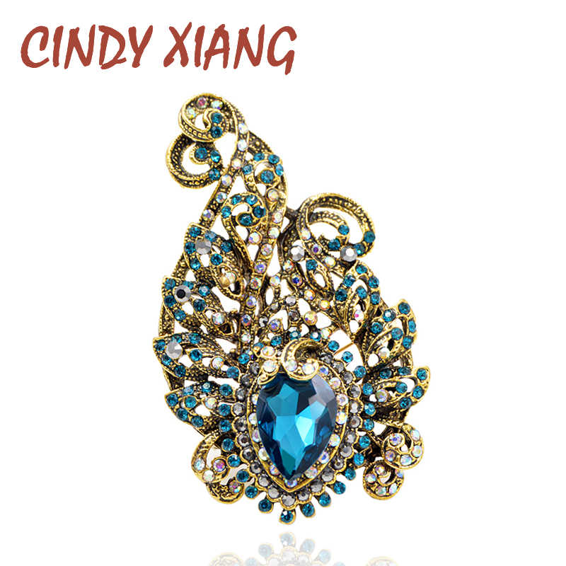 6b19fc9f105 Detail Feedback Questions about CINDY XIANG Vintage Rhinestone Water drop  Style Brooches for Women Large Coat Brooch Pin Fashion Jewelry Party  Accessories ...