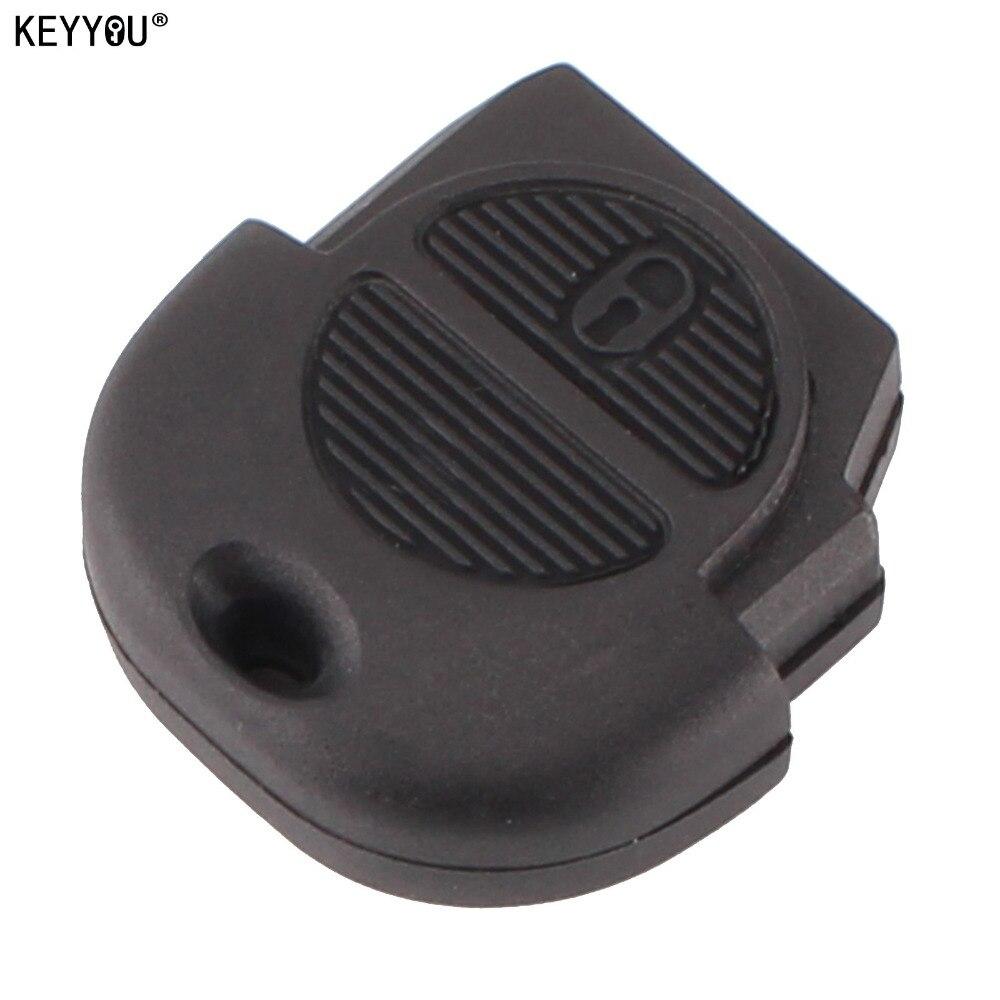 KEYYOU 2 Button Remote Flip Fob Car Key Shell for Nissan Micra Almera Primera X-Trail Replacement Uncut Blade Key Case Cover cawanerl car sealing strip kit weatherstrip rubber seal edging trim anti noise for nissan almera march micra note pixo platina
