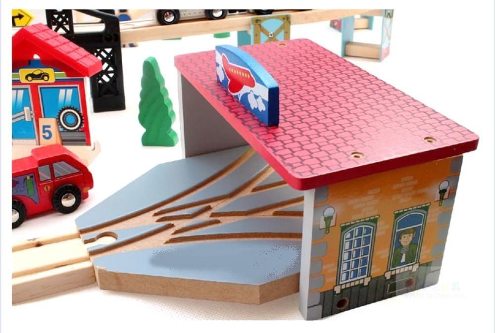 Vehicles Kids Toys Thomas train Toy Model Cars miniatures wooden puzzle Building slot track Rail transit Parking Toys car
