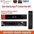 1 год Европа Cline Подлинная Freesat GTMedia V8 Nova Full HD DVB-S2 спутниковый ресивер тот же V9 Супер Обновление от V8 Super Deco