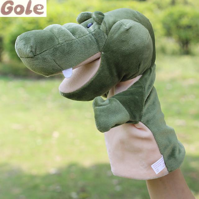 Prop Animal Navidad Marioneta Del Dedo de cocodrilo Para Niños Animales China Cabelo De Boneca Brinquedo Juguete Toy Story Mano Burattini